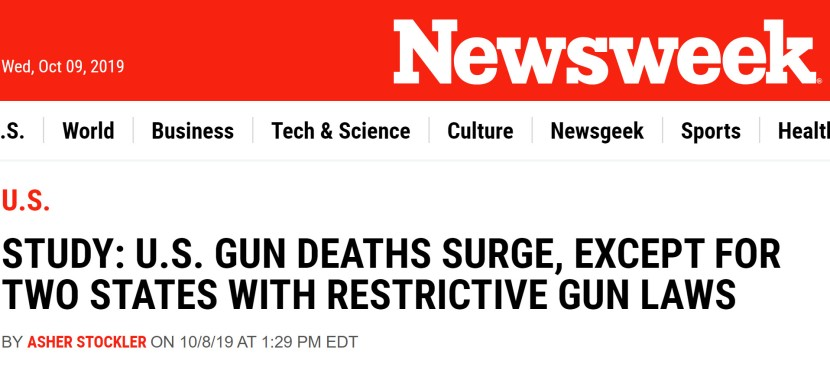 Newsweek Outright Lies to the American People about Firearms Deaths!